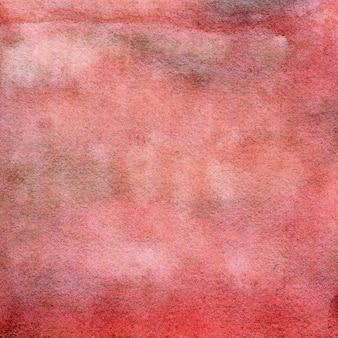 Fond aquarelle dessinés à la main texture aquarelle rouge