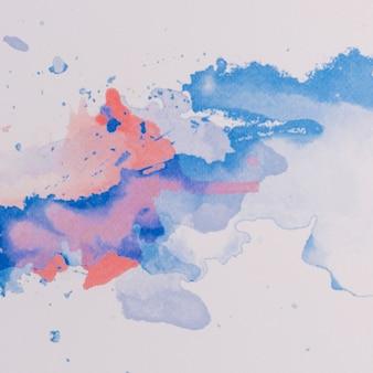 Fond aquarelle moderne avec dessin abstrait