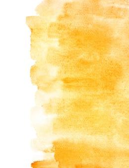 Fond aquarelle orange avec bord isolé