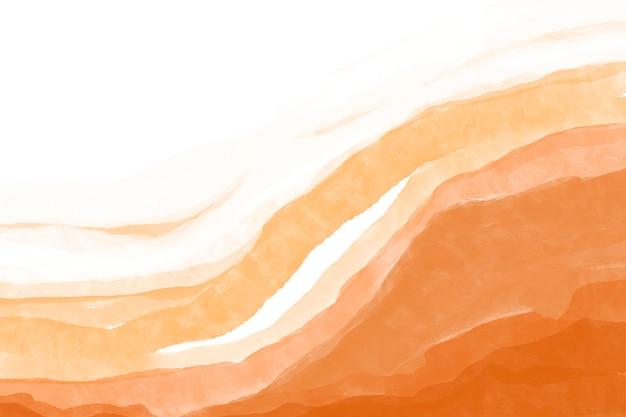 Fond aquarelle orange, dessin abstrait de fond d'écran