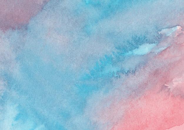 Fond aquarelle rouge et bleu