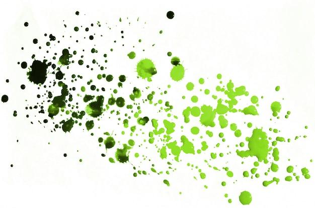 Fond aquarelle vert clair sur papier blanc