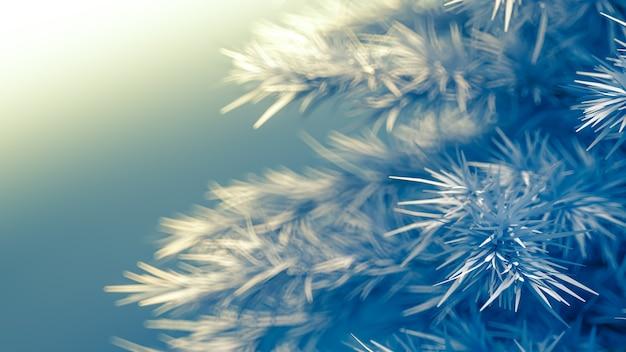 Fond avec un arbre de noël rendu 3d illustration