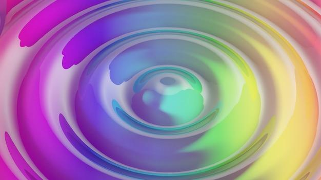 Fond arc-en-ciel coloré en matériau de verre de forme abstraite d'ondulation. image pour la présentation. illustration de rendu 3d.