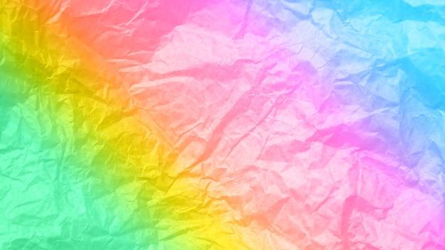 Fond arc-en-ciel froissé. texture réelle de la texture d'emballage.