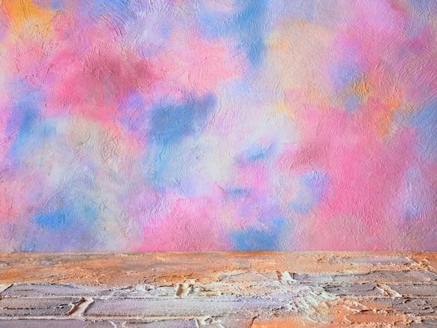 Fond arc-en-ciel multicolore pour la présentation du produit