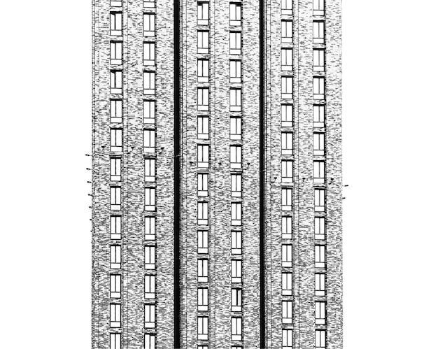 Fond d'architecture de gratte-ciel minimal