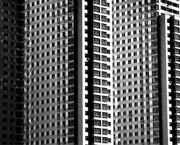 Fond d'architecture de gratte-ciel à plusieurs étages