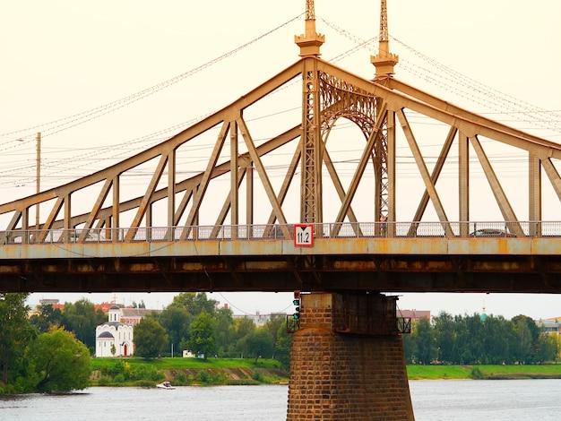Fond d'architecture de pont coucher de soleil spectaculaire