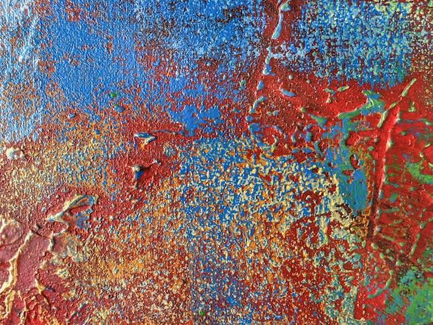 Fond d'art abstrait aux couleurs rouges et bleus