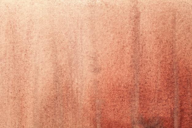 Fond d'art abstrait couleur corail clair. peinture rose sur toile. fragment d'oeuvre orange.