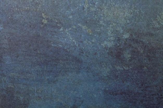 Fond d'art abstrait couleurs bleu marine et denim. aquarelle sur papier rugueux