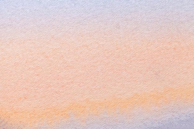 Fond d'art abstrait couleurs corail clair et rose. aquarelle sur toile dégradé blanc.