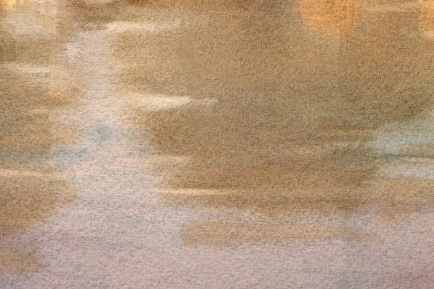 Fond d'art abstrait couleurs marron clair et beige. peinture à l'aquarelle sur toile.