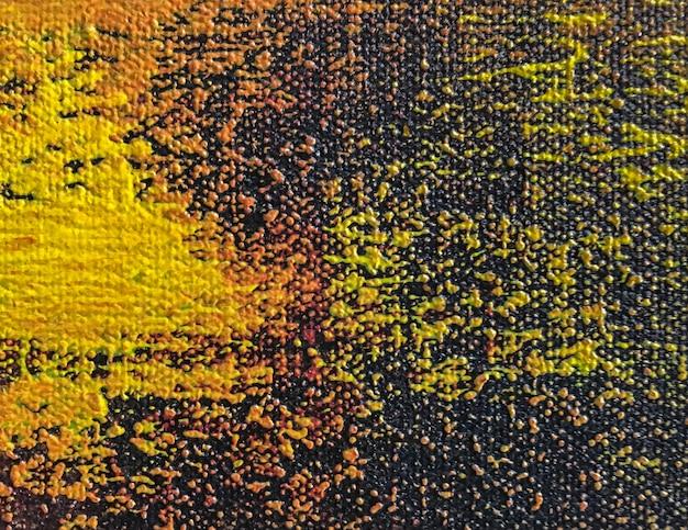 Fond d'art abstrait avec des couleurs orange et noir