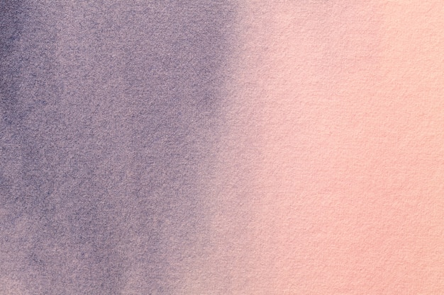 Fond d'art abstrait couleurs rose et bleu clair. peinture à l'aquarelle sur toile.