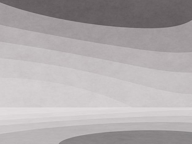 Fond d'art abstrait papier contour graphique noir et blanc rendu 3d