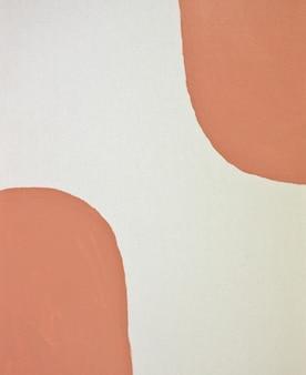 Fond d'art de style géométrique du milieu du siècle en terre cuite texture de couleur marron pastel neutre