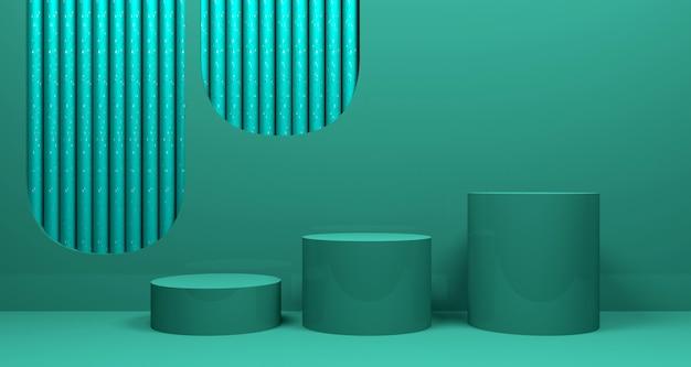 Fond de bannière géométrique abstrait brillant. rendu 3d.