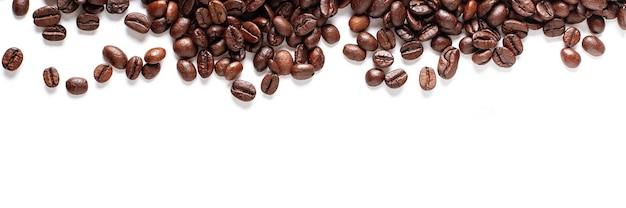Fond de bannière de grains de café.