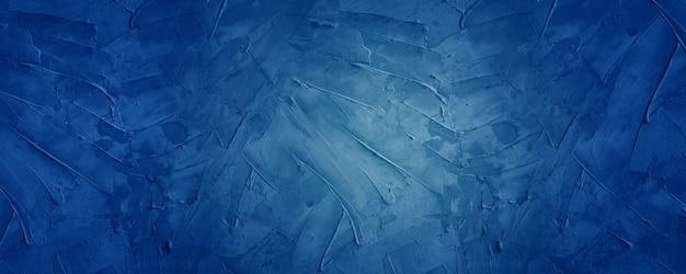 Fond de bannière horizontale de ciment foncé et bleu
