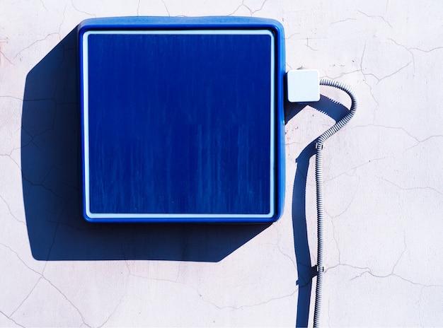 Fond de bannière de rue vide bleu