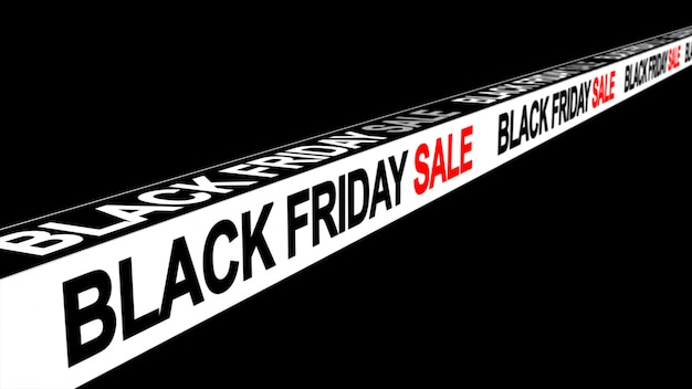 Fond de bannière signe vendredi vente noir
