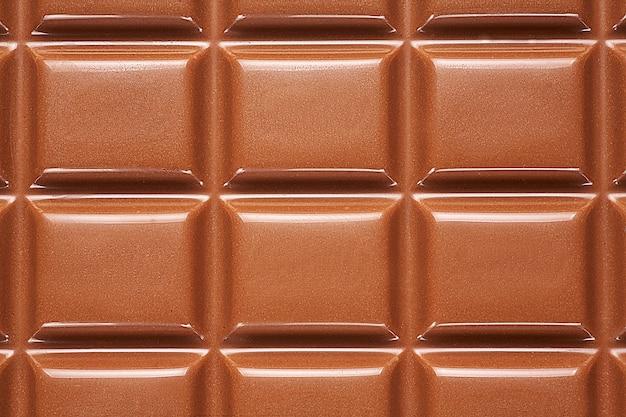 Fond d'une barre de chocolat se bouchent.