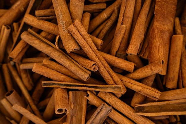 Fond de bâtons de cannelle