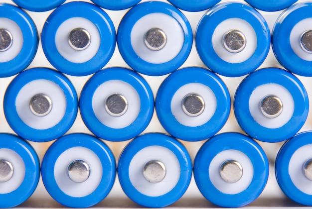 Fond de batteries bleu