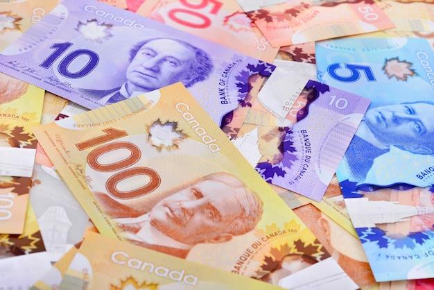 Fond de billets de banque canadiens