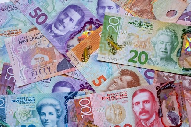 Fond de billets en dollars néo-zélandais