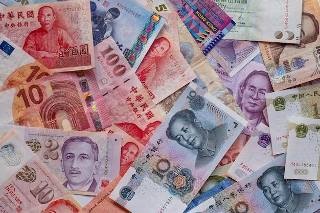 Fond de billets multi-pays.