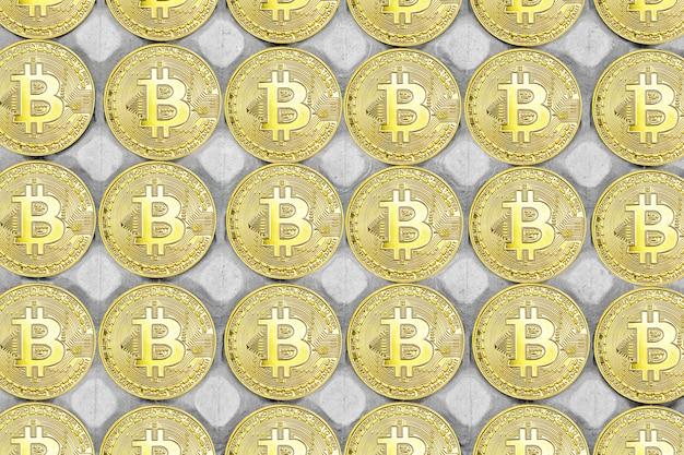 Fond de bitcoin. bitcoins et nouveau concept d'argent virtuel. le bitcoin est une nouvelle monnaie.