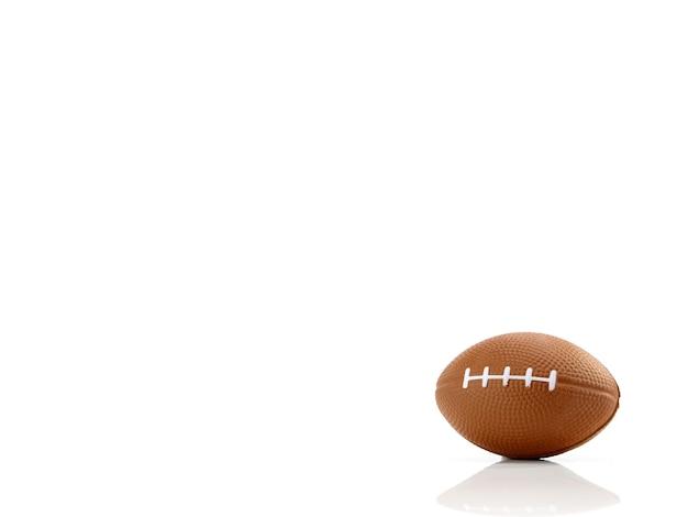 Fond blanc football américain, gros plan