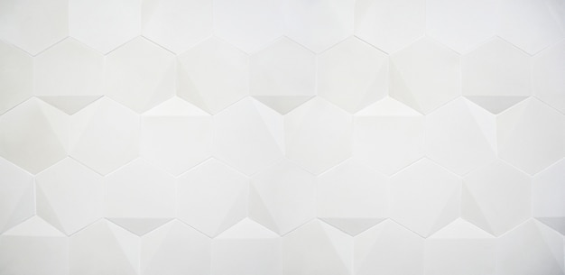 Fond blanc large hexagone