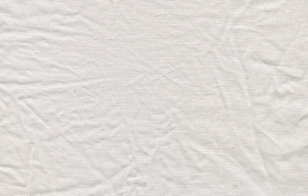 Fond blanc en lin naturel