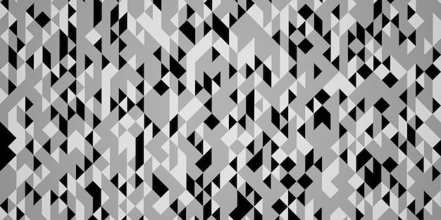 Fond blanc avec motif triangle monotone motif triangle illustration 3d de fond