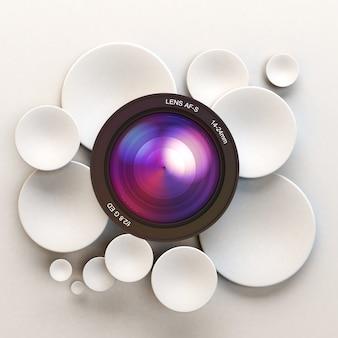 Fond blanc photographique