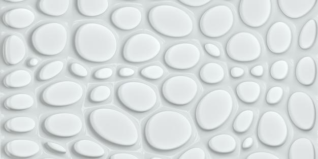 Fond blanc volumétrique avec une ombre fond blanc avec effet 3d panneau décoratif