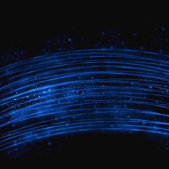 Fond bleu abstrait paillettes lumineuses