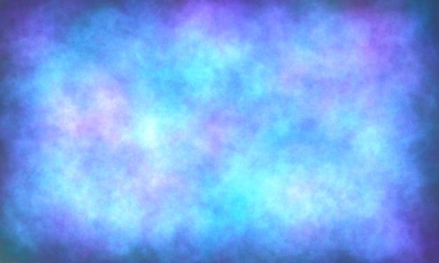 Fond bleu abstrait texture délavé grunge éponge design bordures