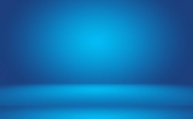 Fond Bleu Dégradé De Luxe Abstrait. Bleu Foncé Lisse Avec Vignette Noire Studio Banner. Photo gratuit