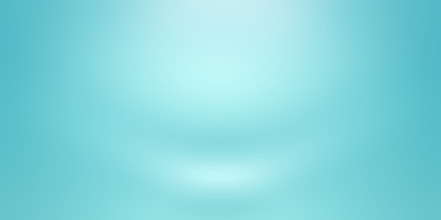 Fond bleu dégradé de luxe abstrait. bleu foncé lisse avec vignette noire studio banner.