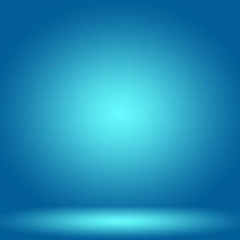 Fond bleu dégradé de luxe abstrait lisse bleu foncé avec bannière de studio vignette noire