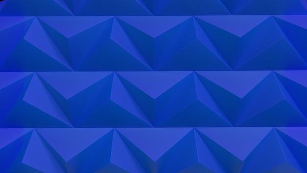 Fond bleu géométrique de rendu 3d
