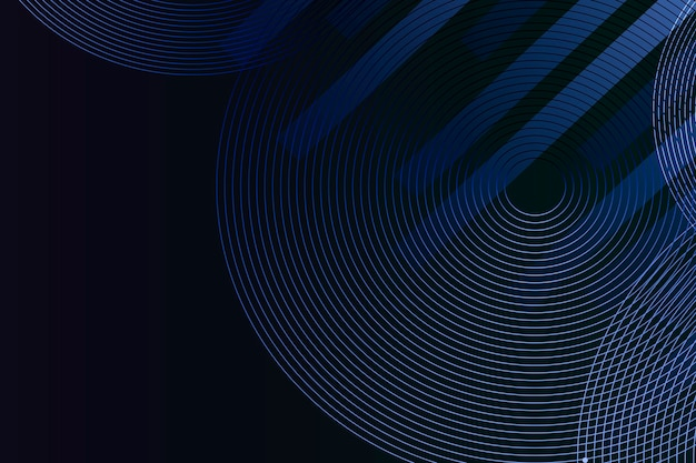 Fond bleu à motifs de lignes géométriques