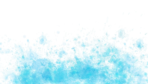 Fond bleu splash aquarelle