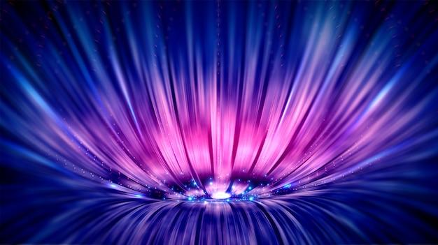 Fond bleu et violet avec des lignes.