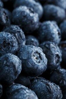 Fond de bleuets juteux et mûrs